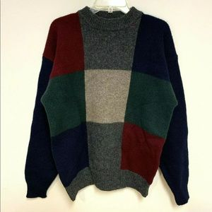 Pendleton Wool Crewneck Sweater Colorblock Thick